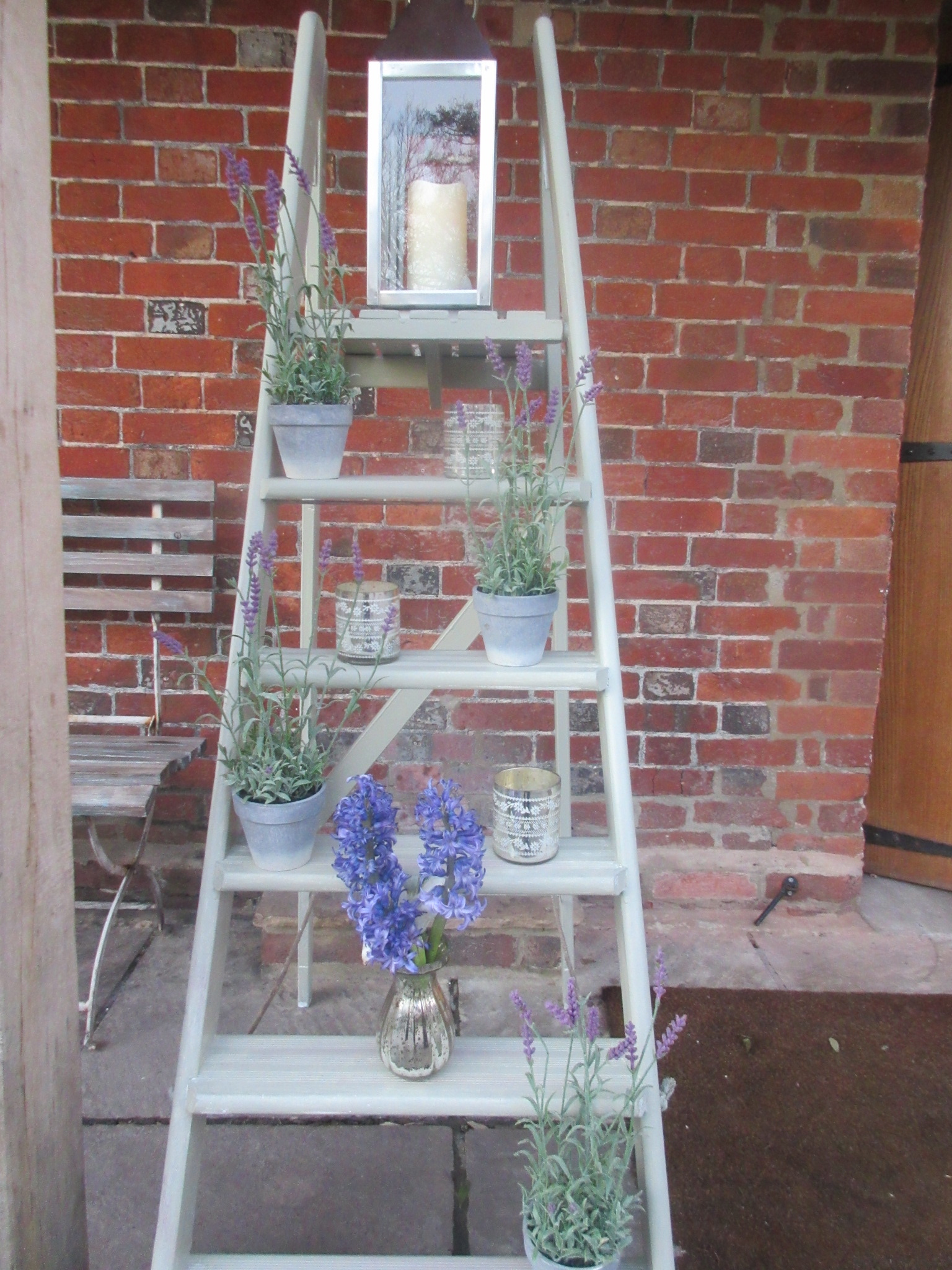 Wooden Display Step Ladder Incabella Wedding Hire